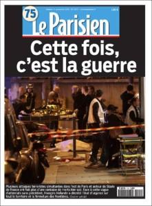 Le Parisien, samedi 16 novembre. Constat ou invitation ?